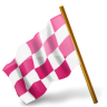 96x96px size png icon of Map Marker Chequered Flag Left Pink