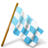 96x96px size png icon of Map Marker Chequered Flag Right Azure