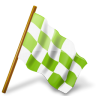 96x96px size png icon of Map Marker Chequered Flag Right Chartreuse
