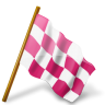 96x96px size png icon of Map Marker Chequered Flag Right Pink