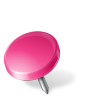 96x96px size png icon of Map Marker Drawing Pin Left Pink