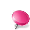 96x96px size png icon of Map Marker Drawing Pin Right Pink