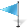 96x96px size png icon of Map Marker Flag 1 Left Azure
