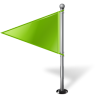 96x96px size png icon of Map Marker Flag 1 Left Chartreuse
