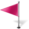 96x96px size png icon of Map Marker Flag 1 Left Pink