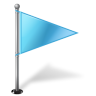96x96px size png icon of Map Marker Flag 1 Right Azure