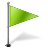 96x96px size png icon of Map Marker Flag 1 Right Chartreuse