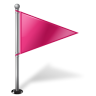 96x96px size png icon of Map Marker Flag 1 Right Pink
