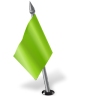 96x96px size png icon of Map Marker Flag 2 Left Chartreuse