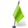 96x96px size png icon of Map Marker Flag 2 Right Chartreuse