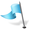 96x96px size png icon of Map Marker Flag 3 Left Azure