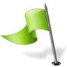 96x96px size png icon of Map Marker Flag 3 Left Chartreuse