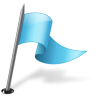 96x96px size png icon of Map Marker Flag 3 Right Azure
