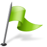 96x96px size png icon of Map Marker Flag 3 Right Chartreuse