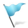 96x96px size png icon of Map Marker Flag 5 Azure
