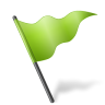 96x96px size png icon of Map Marker Flag 5 Chartreuse