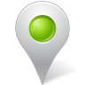 96x96px size png icon of Map Marker Marker Inside Chartreuse