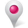 96x96px size png icon of Map Marker Marker Inside Pink