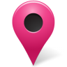 96x96px size png icon of Map Marker Marker Outside Pink