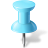 96x96px size png icon of Map Marker Push Pin 1 Azure
