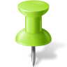 96x96px size png icon of Map Marker Push Pin 1 Chartreuse