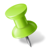96x96px size png icon of Map Marker Push Pin 1 Left Chartreuse