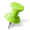 96x96px size png icon of Map Marker Push Pin 1 Right Chartreuse