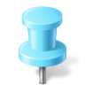 96x96px size png icon of Map Marker Push Pin 2 Azure