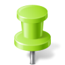 96x96px size png icon of Map Marker Push Pin 2 Chartreuse