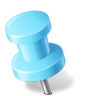 96x96px size png icon of Map Marker Push Pin 2 Left Azure