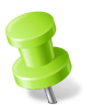 96x96px size png icon of Map Marker Push Pin 2 Left Chartreuse