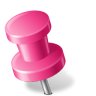 96x96px size png icon of Map Marker Push Pin 2 Left Pink