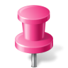 96x96px size png icon of Map Marker Push Pin 2 Pink