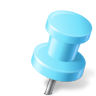 96x96px size png icon of Map Marker Push Pin 2 Right Azure