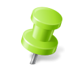 96x96px size png icon of Map Marker Push Pin 2 Right Chartreuse