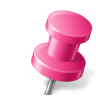 96x96px size png icon of Map Marker Push Pin 2 Right Pink