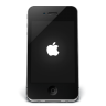 96x96px size png icon of iPhone Black Apple
