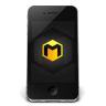 96x96px size png icon of iPhone Black Musett