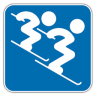 96x96px size png icon of Alpine Skiing 3