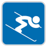 96x96px size png icon of Alpine Skiing