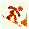96x96px size png icon of sochi 2014 snowboard