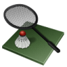 96x96px size png icon of badminton