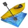 96x96px size png icon of kayak slalom
