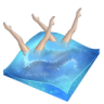 96x96px size png icon of swimming synchronized