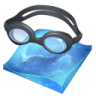 96x96px size png icon of swimming