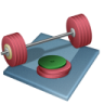96x96px size png icon of weightlifting