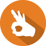 96x96px size png icon of ok