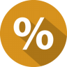 96x96px size png icon of percentage
