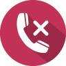 96x96px size png icon of phone call reject