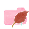 96x96px size png icon of Folder Candy Leaf